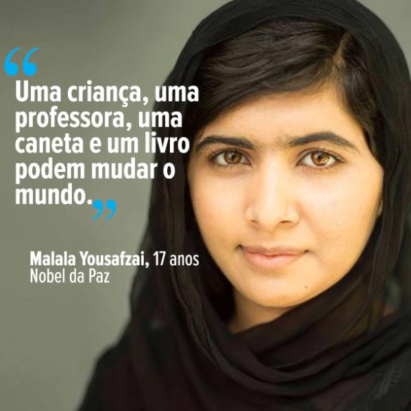 MALALA NOBEL DA PAZ